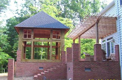 Evans construction llc decks and porches for Detached sunroom